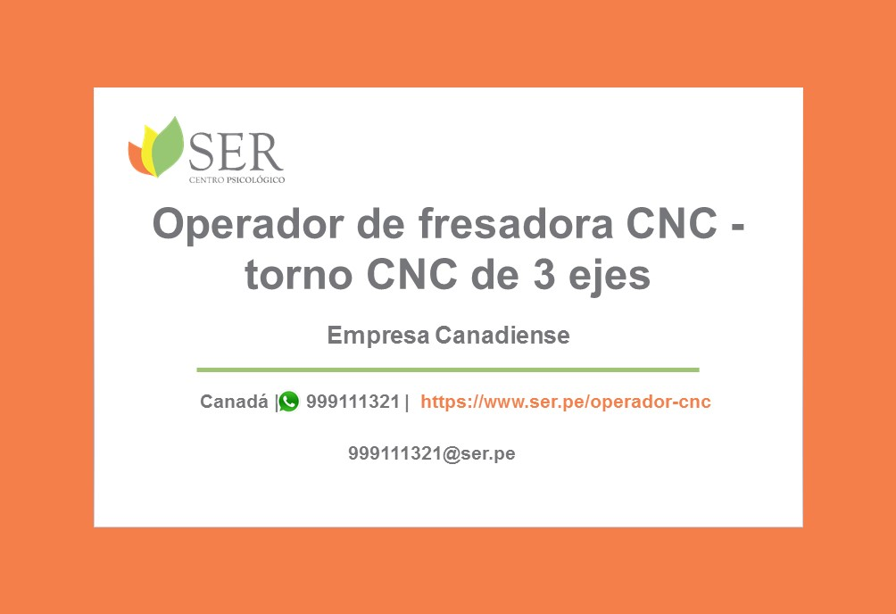 Operador de fresadora CNC